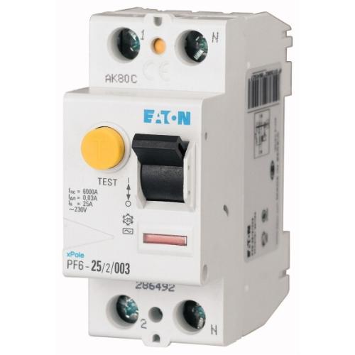 Proudový chránič EATON PF6-25/2/003 25A 30mA AC 286492
