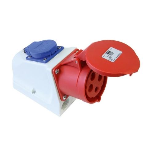 Kombinovaná zásuvka PCE 9224-6F 32A/4P/400/230V/16A IP44