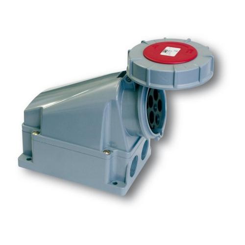 Zásuvka nástěnná PCE 135-6 63A/5P/400V IP67 Power Twist