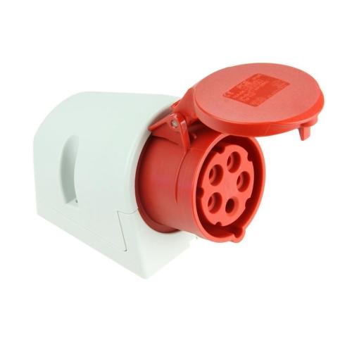 Zásuvka nástěnná PCE 125-6 32A/5P/400V IP44