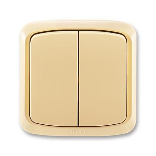 ABB Tango vypínač č.6+6 dvojitý IP44 béžová 3558A-52940 D