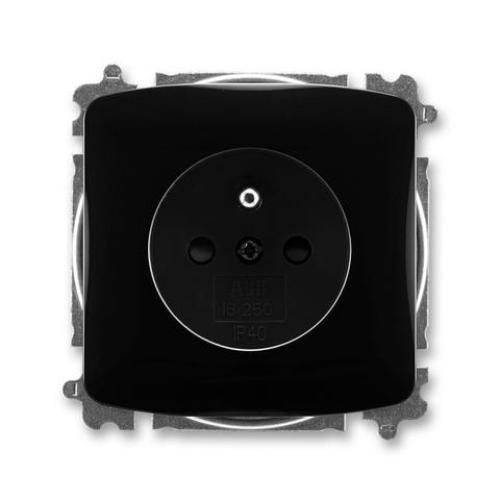 ABB Tango zásuvka černá s clonkami 5519A-A02357 N
