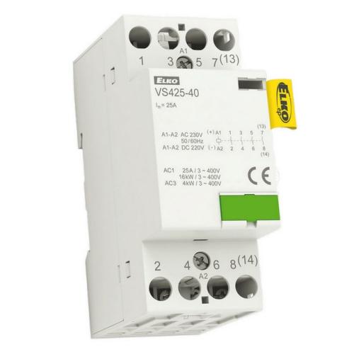 Instalační stykač Elko EP VS425-40 4x25A 230V