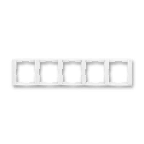Levně ABB Time pětirámeček vodorovný bílá/bílá 3901F-A00150 03