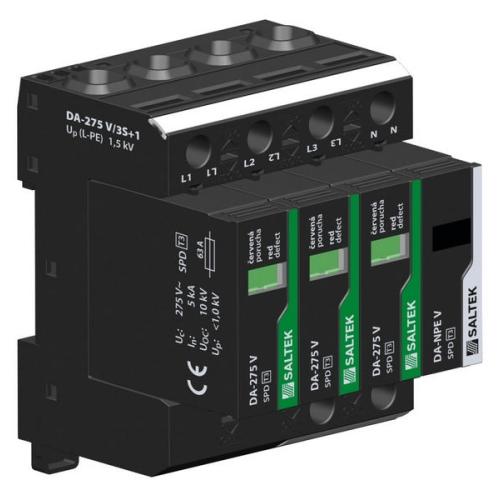 Přepěťová ochrana DA-275 V/3+1 třífázová, zapojení 3+1, 230V/63A