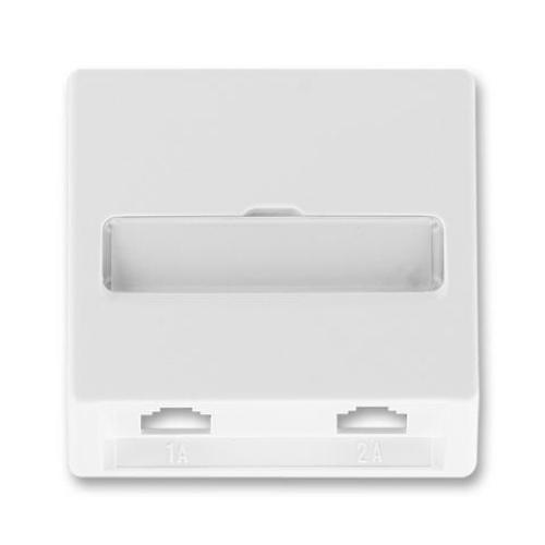 ABB Classic kryt zásuvky telefonní dvojnásobné jasně bílá 5013C-A00215 B1