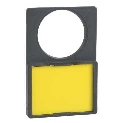 Schneider Harmony držák štítků 30x40mm se žlutým štítkem neoznačený ZBY4101