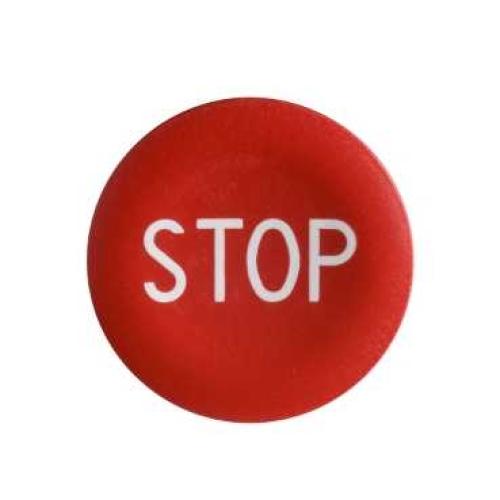 Schneider Harmony hmatník červený označený STOP ZBA434