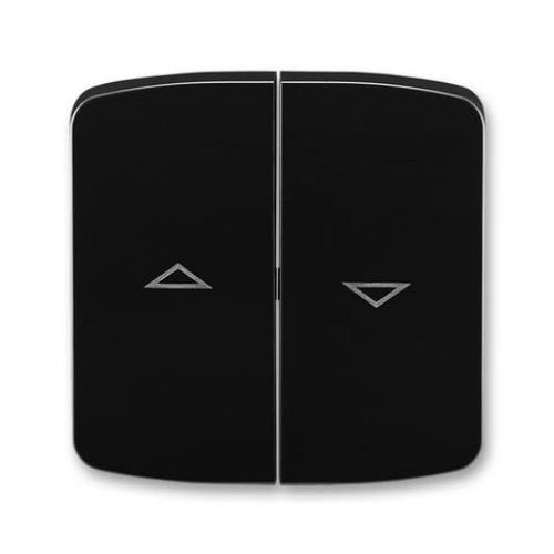ABB Tango kryt vypínače žaluziového dělený s potiskem černá 3558A-A662 N