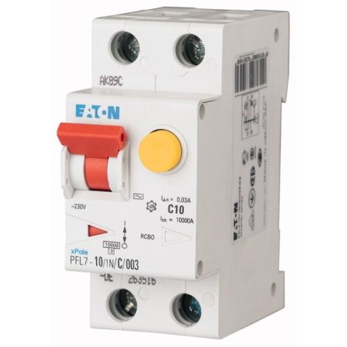 Proudový chránič s jističem EATON PFL7-10/1N/B/003/B 10A 30mA AC 263434
