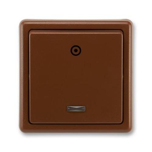 ABB Classic tlačítko č.1/0So s orientační doutnavkou hnědá 3553-93289 H3