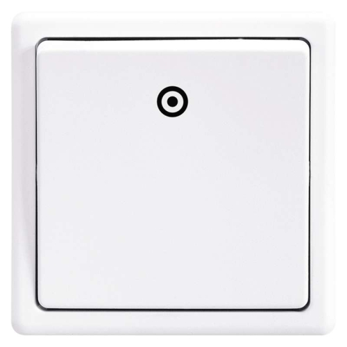 ABB Classic tlačítko č.1/0 jasně bílá 3553-80289 B1