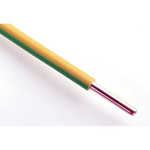 Vodič H07V-U 10 žlutozelená (CY 10)