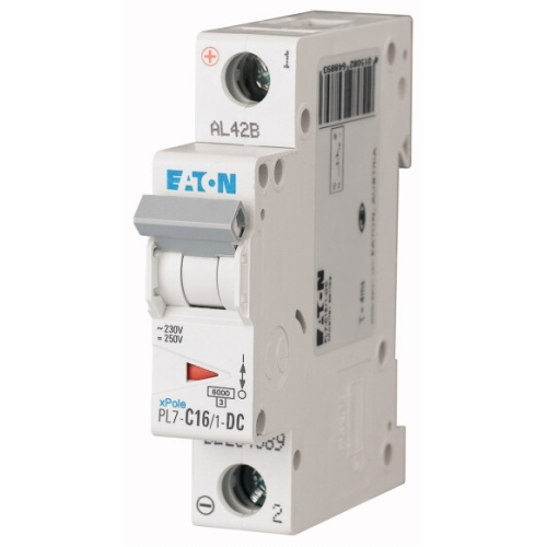 Jistič EATON PL7-16/1/C-DC 16A PL7-C16/1-DC 264889