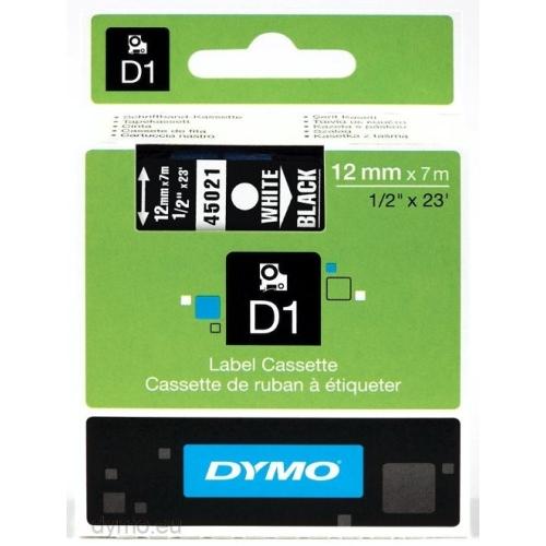 Páska Dymo 45021 popisovací samolepící černá/bílá 12mm/7m S0720610
