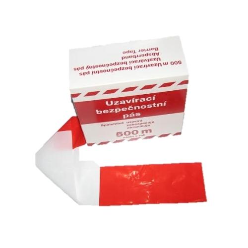 Uzavírací značící fólie červeno/bílá 500m/80mm
