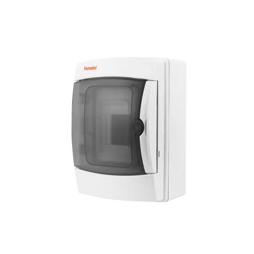 Rozvodnice na omítku Famatel 3904-T průhledné dveře 4M IP65 39041