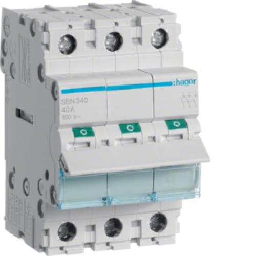 Instalační vypínač hager SBN340 3P 40A