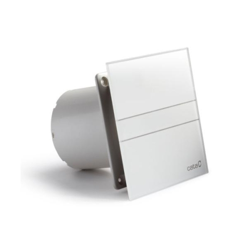 Koupelnový ventilátor s časovým doběhem CATA e100 GT se skleněným panelem