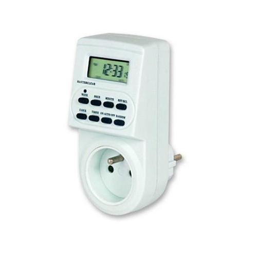Spínací zásuvka/spínací hodiny ELEKTROBOCK DH7 týdenní digitální spínaný nulový vodič