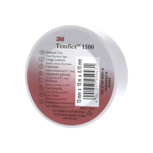 Páska izolační PVC 3M Temflex 1500 15mm x 10m bílá