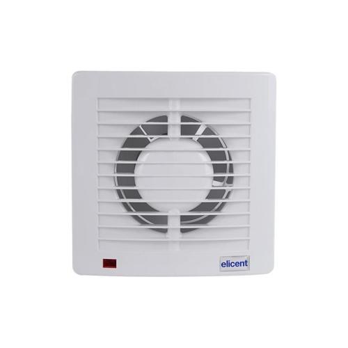 Koupelnový ventilátor se zpětnou klapkou a časovým doběhem E-STYLE 150 PRO T