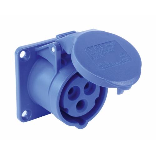 Zásuvka vestavná PCE 3P 16A/230V IP44 přímá 313-6