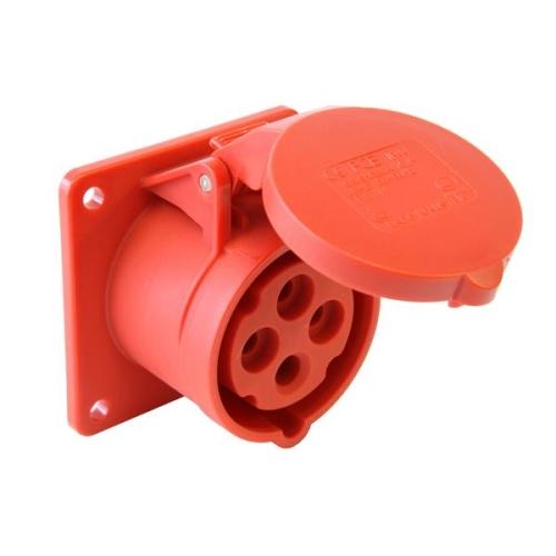 Zásuvka vestavná PCE 314-6 16A/4P/400V IP44