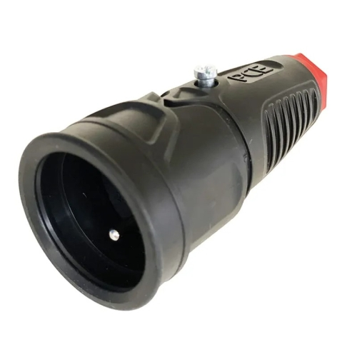 Spojka/zásuvka PCE gumová hluboké provedení 230V/16A 2410-SW