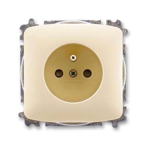 ABB Tango zásuvka slonová kost s clonkami 5519A-A02357 C