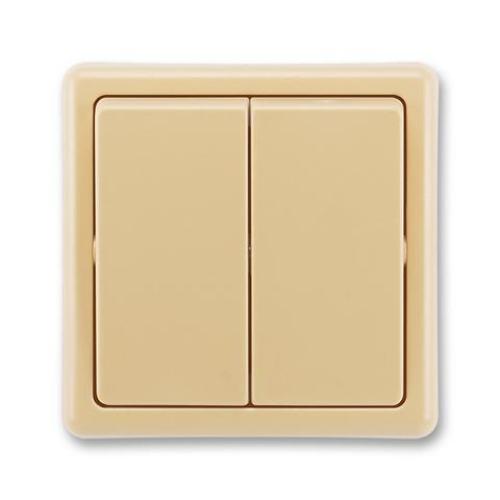 ABB Classic vypínač č.6+6 dvojitý béžová 3553-52289 D2