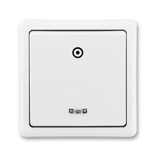 ABB Classic tlačítko č.1/0So s orientační doutnavkou jasně bílá 3553-93289 B1