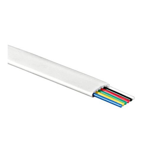 Telefonní kabel šestižílový bílý (100m)