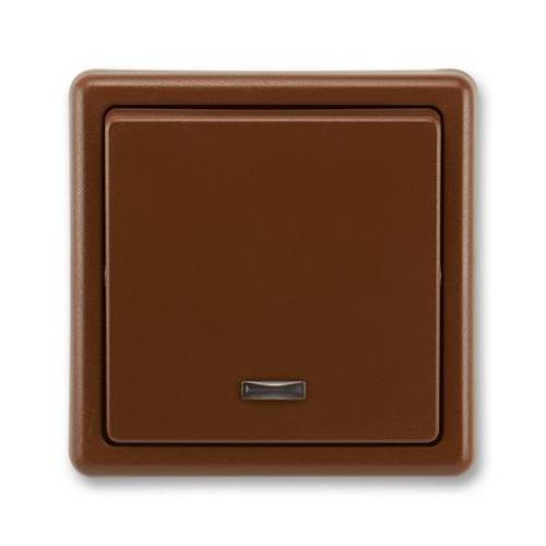 ABB Classic vypínač č.1S hnědá 3553-21289 H3 se signalizační doutnavkou