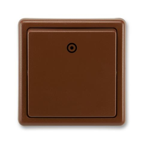 ABB Classic tlačítko č.1/0 hnědá 3553-80289 H3
