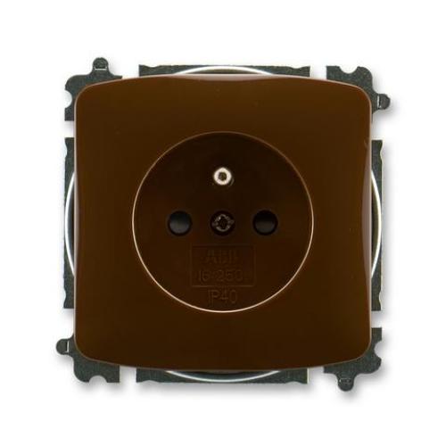 ABB Tango zásuvka hnědá s clonkami 5519A-A02357 H