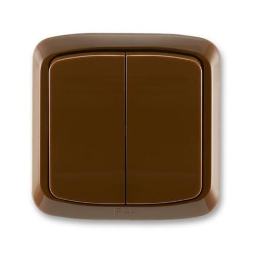 ABB Tango vypínač č.6+6 dvojitý IP44 hnědá 3558A-52940 H