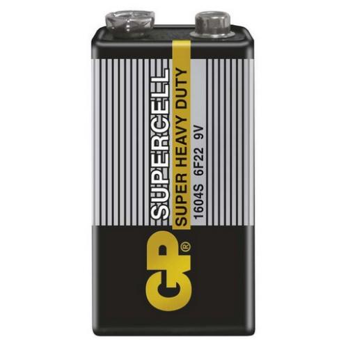 Baterie 9V GP 6F22 Supercell 1ks 1011501000