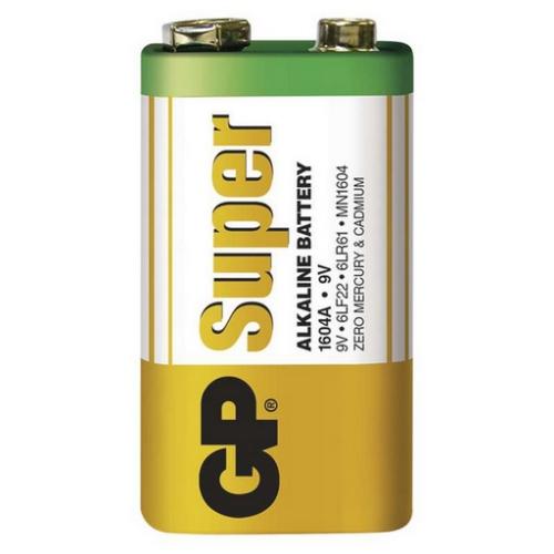 Baterie 9V GP 6LF22 1ks Super alkalická 1013501000