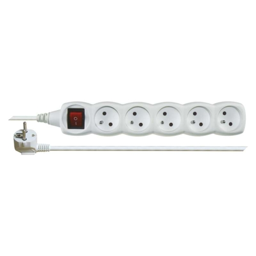Prodlužovací kabel EMOS 3m/5zásuvek s vypínačem bílá P1513 1902150300