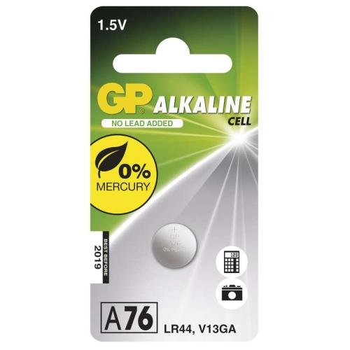 Knoflíková baterie GP LR44 A76 alkalická 1ks 1041007611