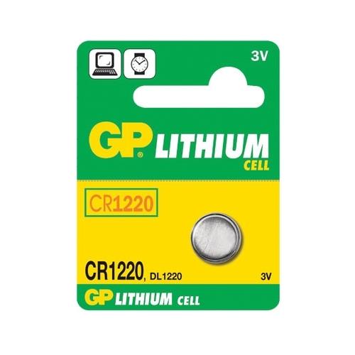 Knoflíková baterie GP CR1220 lithiová 1ks 1042122011