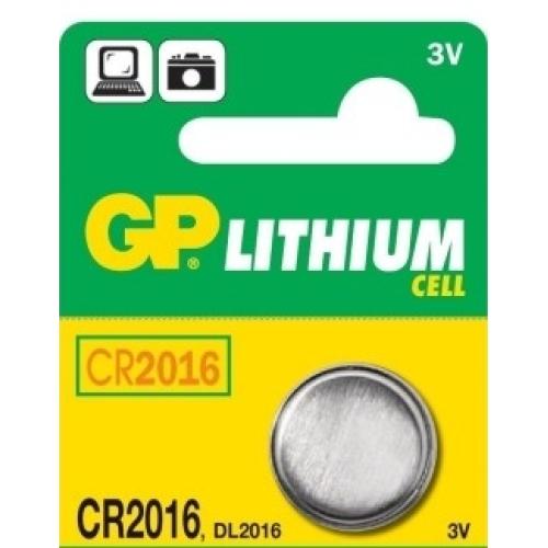 Knoflíková baterie GP CR2016 lithiová 1ks 1042201611