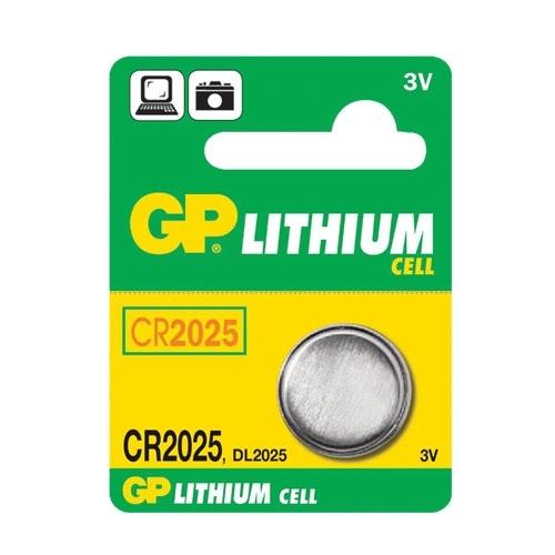 Knoflíková baterie GP CR2025 lithiová 1ks 1042202511