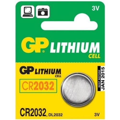 Knoflíková baterie GP CR2032 lithiová 1ks 1042203211
