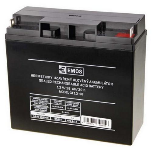 Olověný akumulátor EMOS B9655 12V 18Ah