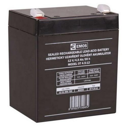 Olověný akumulátor EMOS B9653 12V 4,5Ah