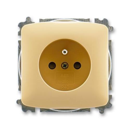 ABB Tango zásuvka béžová s clonkami 5519A-A02357 D