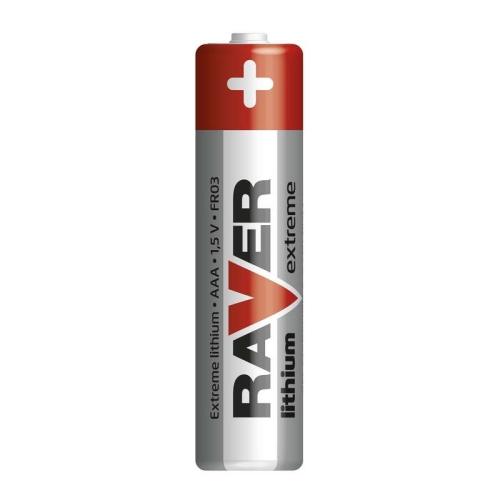 Mikrotužkové baterie AAA RAVER FR03 lithiové