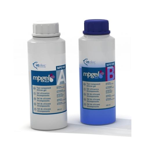 Gel dvousložkový MPGEL-100 zalévací (1 litr - 2x láhev 0,5l)
